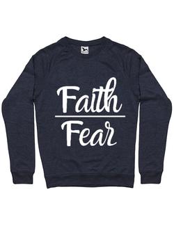 Bluza ADLER barbat Faith Over Fear Denim inchis