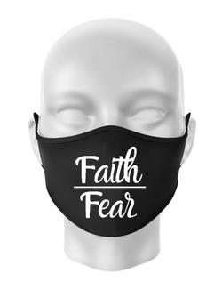 Masca personalizata reutilizabila Faith Over Fear Negru