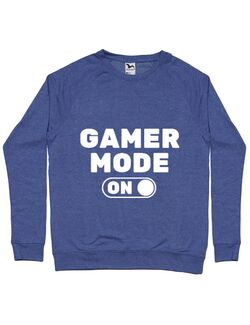 Bluza ADLER barbat Gamer mode on Albastru melanj