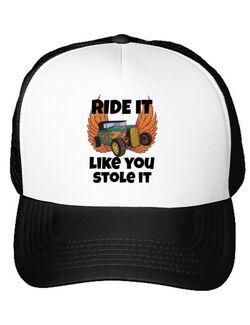 Sapca personalizata Ride it like you stole it Alb
