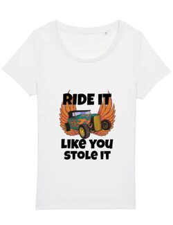 Tricou STANLEY STELLA dama Ride it like you stole it Alb