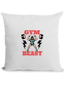 Perna personalizata Gym Beast Alb
