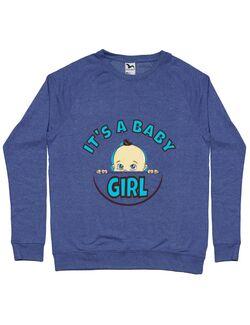 Bluza ADLER barbat It's a baby girl Albastru melanj