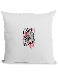 Perna personalizata The lone wolf Alb