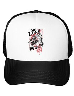 Sapca personalizata The lone wolf Alb