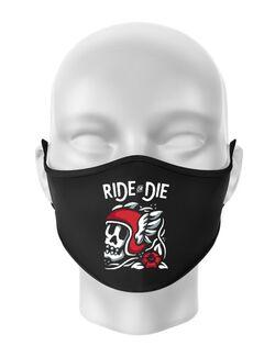 Masca personalizata reutilizabila Ride or die Negru