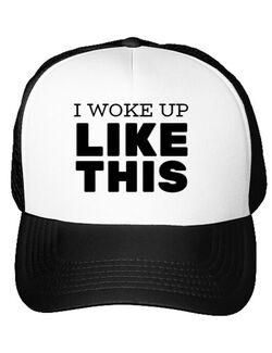 Sapca personalizata I woke up like this Alb
