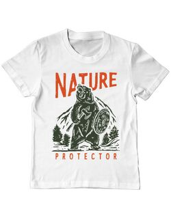 Tricou ADLER copil Nature Protector Alb