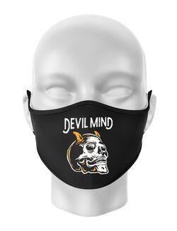 Masca personalizata reutilizabila Devil Mind Negru