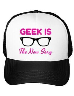 Sapca personalizata Geek is the new sexy Alb