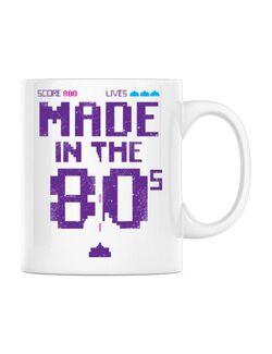 Cana personalizata Made in the 80s Alb