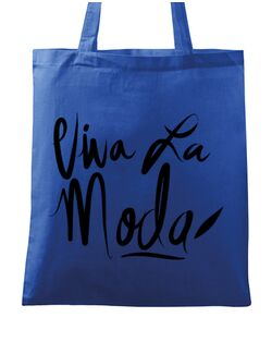 Sacosa din panza Viva la moda Albastru regal