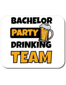 Mousepad personalizat Bachelor Party Alb