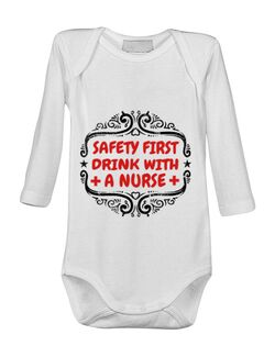 Baby body Safety first drink with a nurse Alb