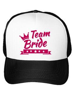 Sapca personalizata Burlacite Team Bride Alb