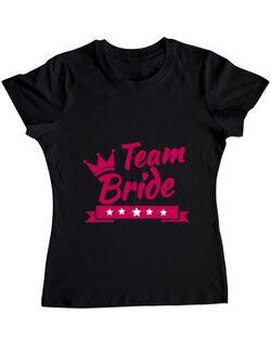 Tricou Petrecerea burlacitelor ADLER Team Bride Negru
