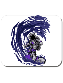 Mousepad personalizat Astronaut Surfing Alb