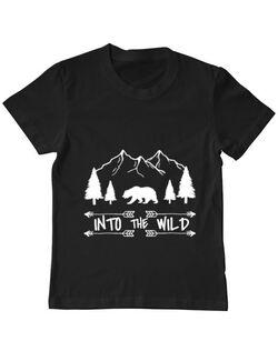 Tricou ADLER copil Into the wild Negru