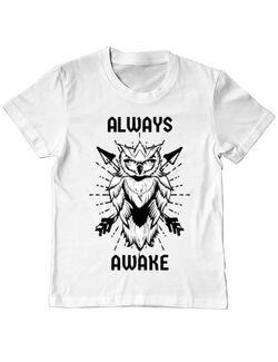Tricou ADLER copil Always awake Alb