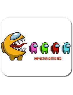 Mousepad personalizat Impostor detected Alb