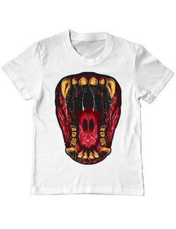 Tricou ADLER copil Beast Mouth Alb