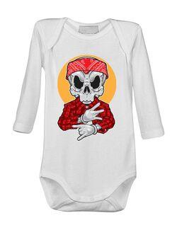 Baby body Skull Gangsta Alb