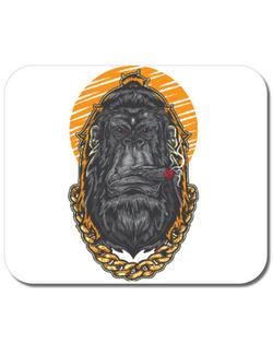 Mousepad personalizat Hipster Gorilla Alb