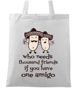 Sacosa din panza One amigo Alb