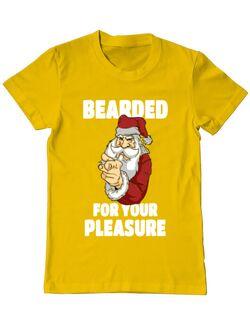 Tricou ADLER barbat Bearded for your pleasure Galben