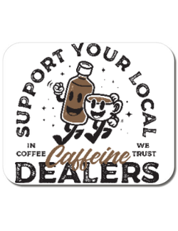 Mousepad personalizat Coffee dealers Alb