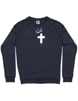 Bluza ADLER barbat Jesus Cross Denim inchis