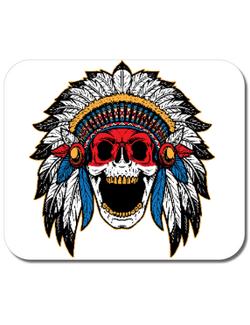 Mousepad personalizat Cherokee Skull Alb