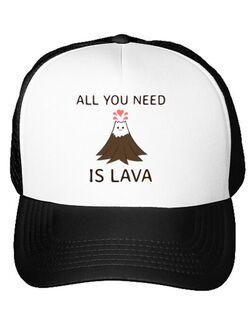 Sapca personalizata All you need is lava Alb