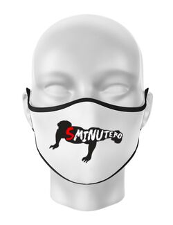 Masca personalizata reutilizabila 5 minute Alb