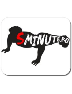 Mousepad personalizat 5 minute Alb