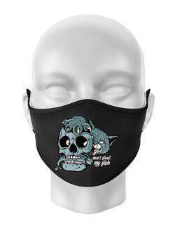Masca personalizata reutilizabila Don\'t steal my fish Negru