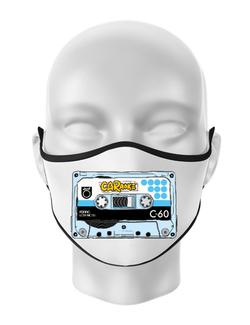 Masca personalizata reutilizabila CARaoke casette Alb