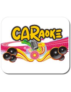 Mousepad personalizat CARaoke design #1 Alb
