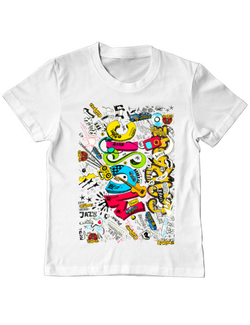 Tricou ADLER copil CARaoke Design #2 Alb