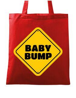 Sacosa din panza Baby bump Rosu