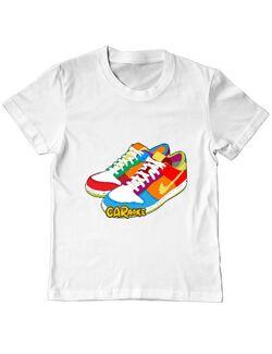 Tricou ADLER copil CARaoke Sneakers Alb