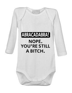 Baby body Abracadabra Alb