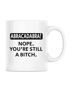 Cana personalizata Abracadabra Alb