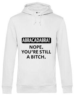 Hoodie barbat cu gluga Abracadabra Alb