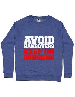 Bluza ADLER barbat Avoid hangovers Albastru melanj