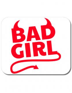 Mousepad personalizat Bad girl Alb