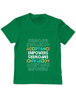 Tricou ADLER copil Acceptarea împuternicește Verde mediu