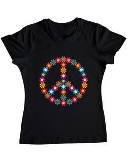 Tricou ADLER dama Hippie Negru