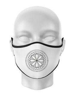 Masca personalizata reutilizabila Mandala Alb Negru Alb