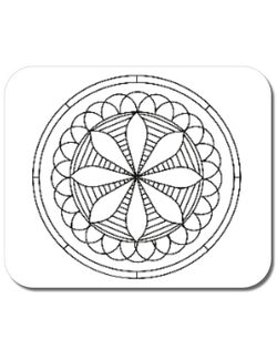 Mousepad personalizat Mandala Alb Negru Alb